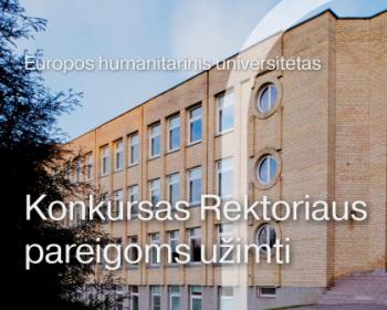 Baigėsi paraiškų EHU Rektoriaus pareigoms užimti priėmimas